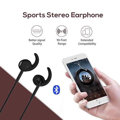 pTron Avento Pro Stereo Wireless Earphones with TF Card Slot & Mic