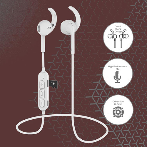 pTron Avento Pro In-Ear Bluetooth Earphones with TF Card Slot & Mic