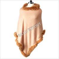 Cashmere Fur Allround Poncho , Size-Free