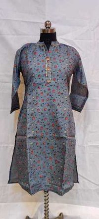 Party Wear Straight Designer Kurti