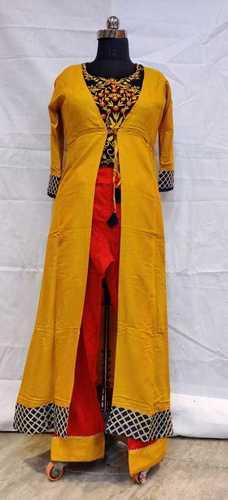 Yellow Casual wear Kurti