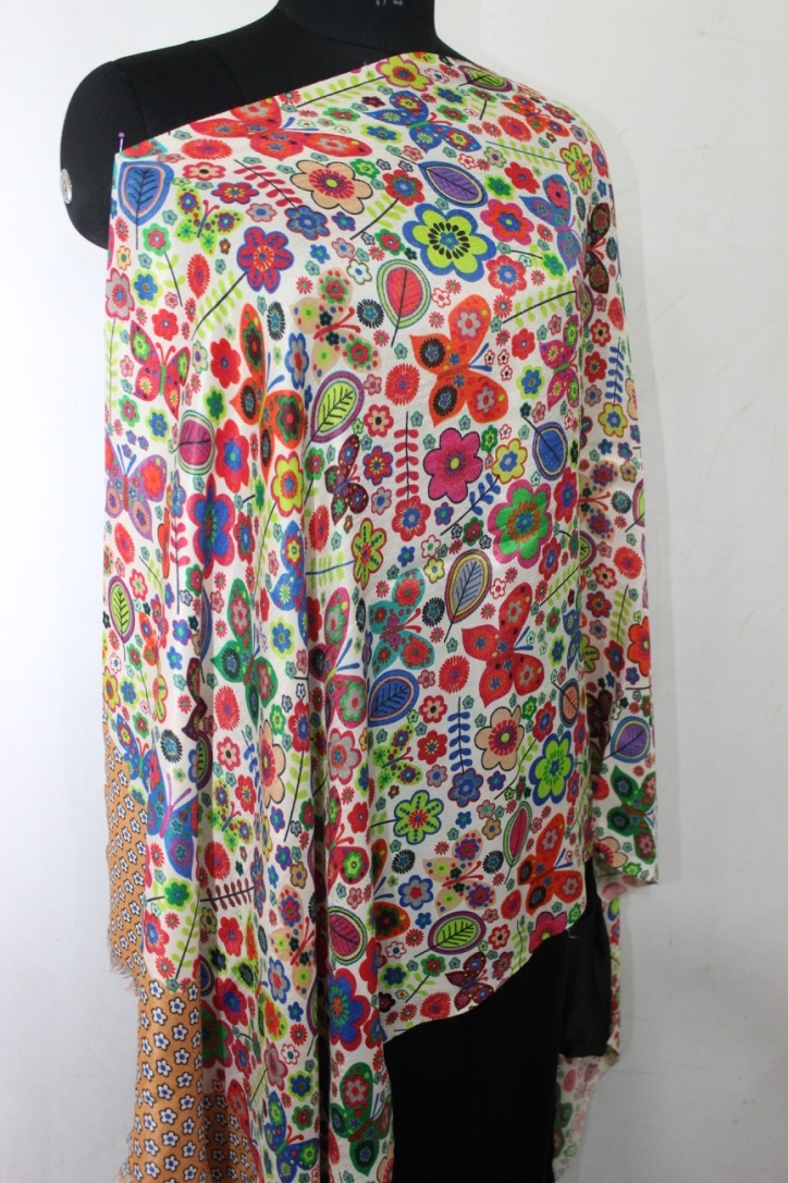 Wool Printed Stoles , SIze-70x200cm