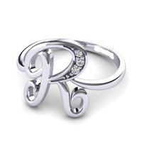 Silver Alphabets Ring