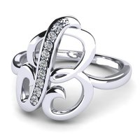 Sterling Silver Alphabets Rings