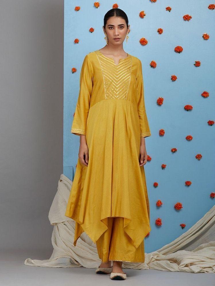 Designer kurti with fancy plazzo