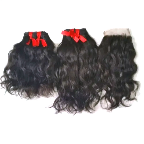 Temple single Donor Virgin Wavy Humna Hair