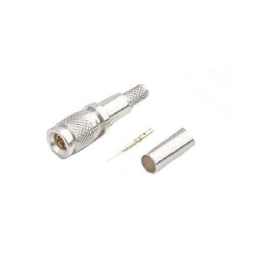 1.0/2.3 Connector Plug Crimp Straight 75Ω Termination Cable Mount Miniature Bulkhead Fitting Snap-On