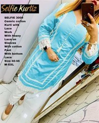 Designer kurti with plazzo