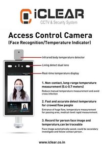 iCLEAR Access Control Camera with Face Recognition and Temperature Indicator