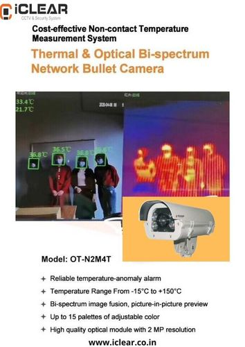 iCLEAR Non-Contact Temperature Measurement Bullet Camera