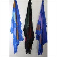 SIlk Wool Lace Stole , Size-70x200cm and 90x210cm