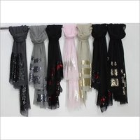 Silk Wool Sequence Stole , Size-70x200cm