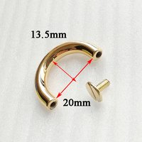 Alloy Semicircle Arch Bridge Buckle Strap Hook for Bag Accessories