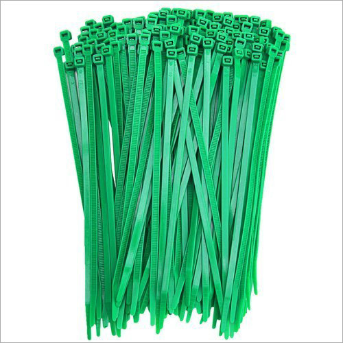 Green Plastic Self Locking Cable Tie