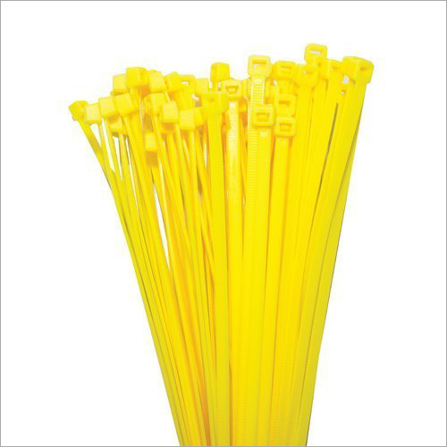 Yellow Plastic Self Locking Cable Tie