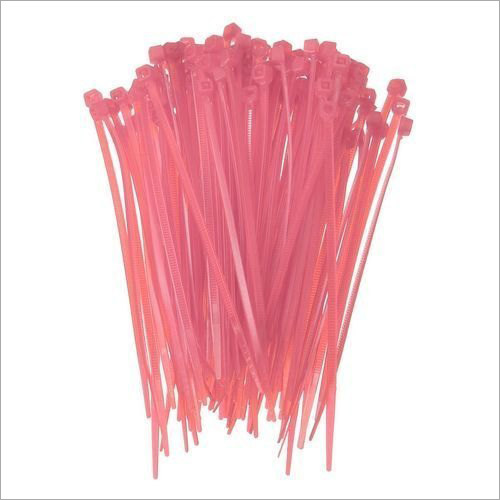 Pink Plastic Self Locking Cable Tie