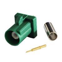 Fakra Connector Green E Male Green Crimp Solder Connector