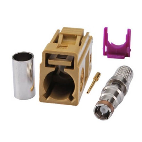 Fakra Connector Market K Female Crimp Solder RG58 LMR-195 RG400 RG142 Cable Connector