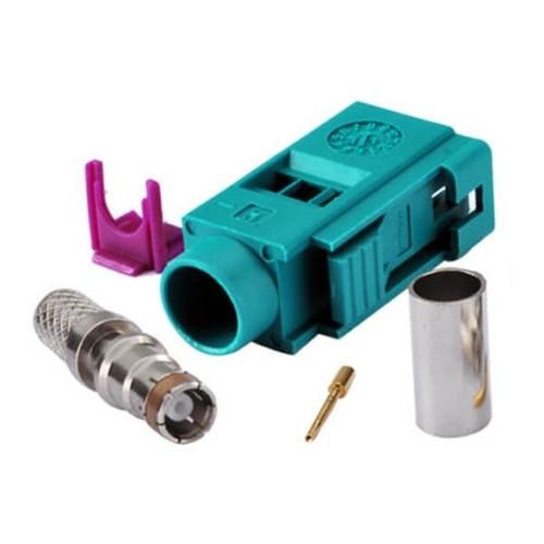 Fakra Connector Types Z Female Crimp Solder For Cable RG58 LMR-195 RG400 RG142