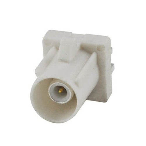 Fakra Connector White Plug Male End Launch PCB Mount RF Connector