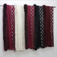 Pashmina One Side fur and One Side  Crystal Stole , Size-70x200cm