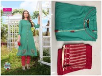Rayon Cotton Flax Kurti With Plazzo And Pant pair