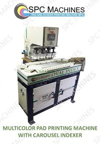 Multicolor Pad Printing Machine With Carousel Indexing Conveyor