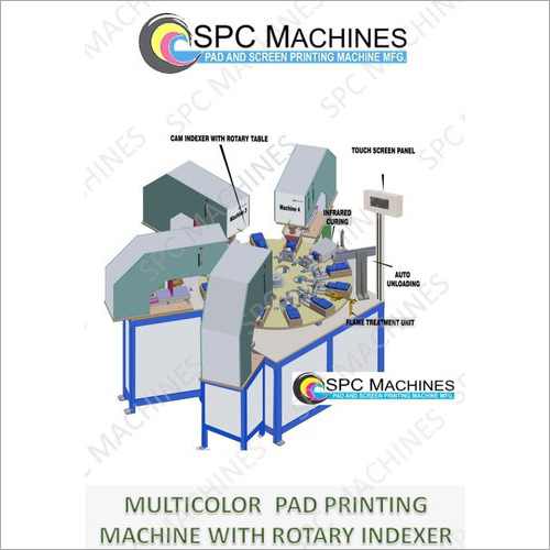 Multicolor Pad Printing Machine With Rotary Indexer