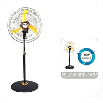3ABS 360 Degree Oscillation Pedestal Fan