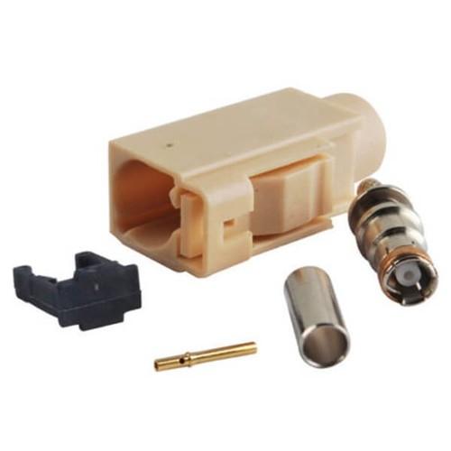 Fakra I Female Crimp Solder RG58 LMR-195 RG400 RG142 Cable Connector
