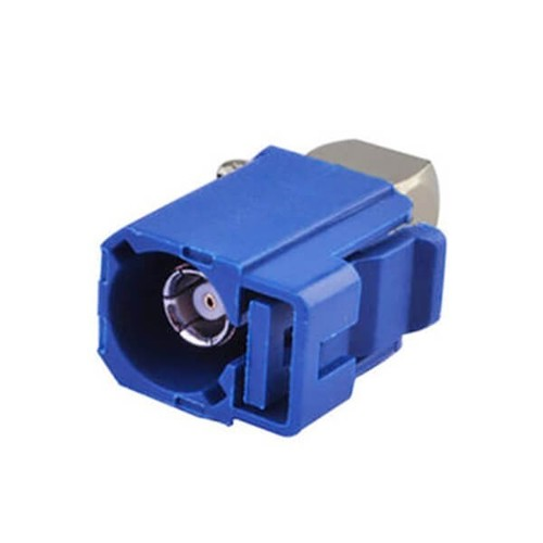 Fakra Plastic Connector Fakra C Female Right Angle Blue Crimp Solder Connector For RG174 RG316 Cable