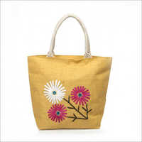 Jute Embroidery Fancy Bags
