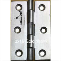 3 x 16 mm Gold Heavy Stainless Steel Hinges
