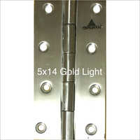 5x 14 mm Gold Light Stainless Steel Hinges