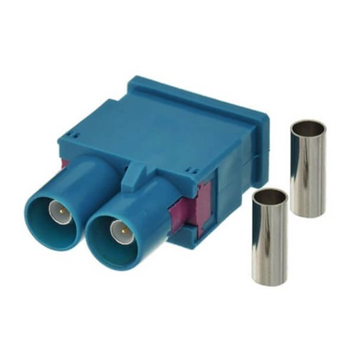 Fakra Z Dual Male Water Blue Solder Car Antenna Connector