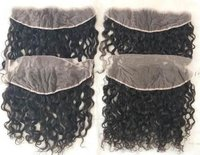 Indian raw Natural color lace curly  frontal