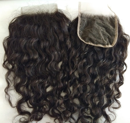 Raw Curly Transparent Lace Closure 4*4