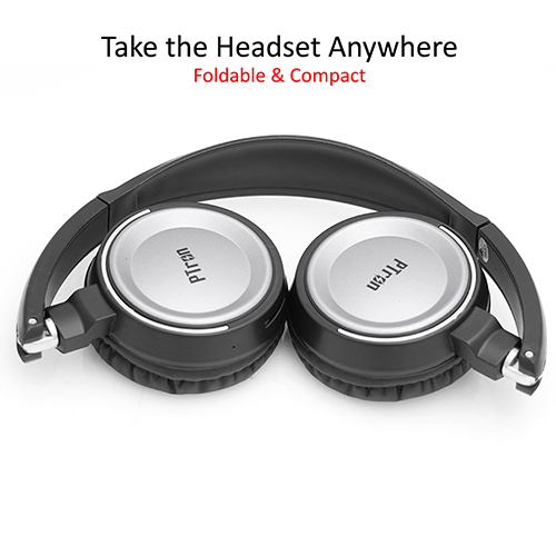 pTron Trips On-the-Ear Stereo Sound Wireless Headphones with Mic