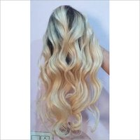 Custom Made Wavy Blonde Front Lace Wig