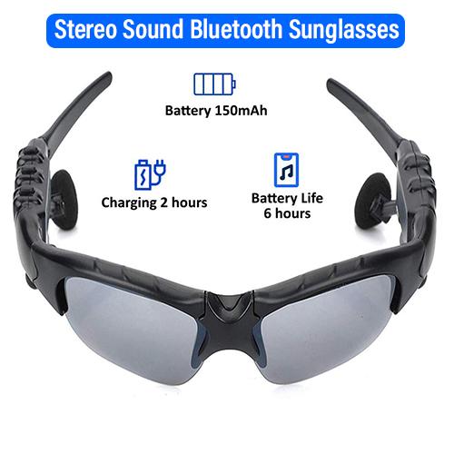 pTron Viki Stereo Bluetooth Earphones Sunglasses with Mic