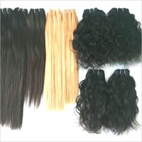 Natural Black And Blonde Human Hair Weft Hair Extension