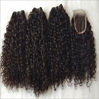 Brazillian Virgin curly Hair bundle with closure