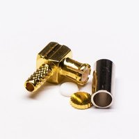 Right Angle Male Gold Plated Crimp Type MCX Connector