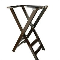 Tray Jack Stand Wood & Crome Plated 31