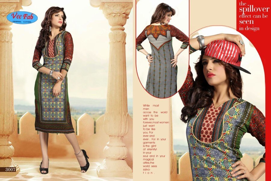 Fancy Ladies Printed Kurti