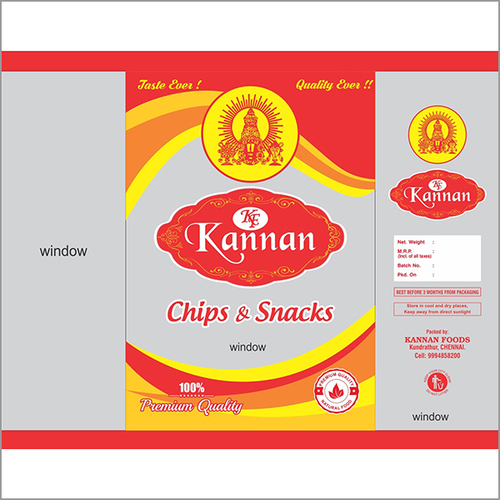 Kannan Chips Packing Cover