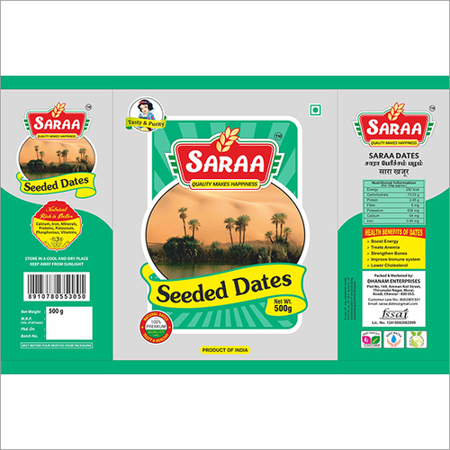 Sara Seeded 500g Dates Pouch