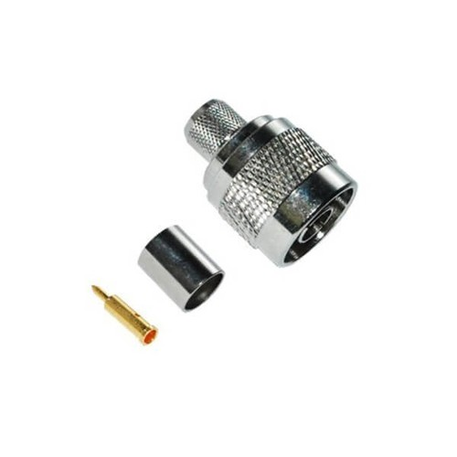 N Connector RG58 Male Straight Crimp Type For Cable