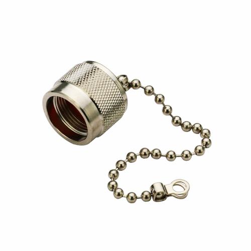 N Male RF Coax Straight Dust Cap With Chain