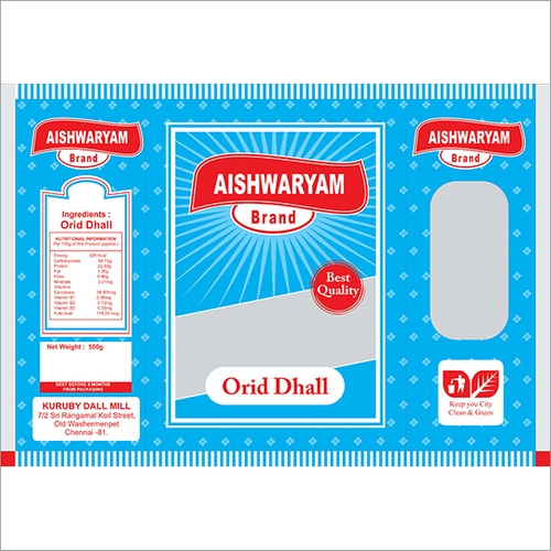 Aishwaryam Brand Orid Dhall Packing Covers